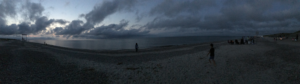 Early evening beach panorama